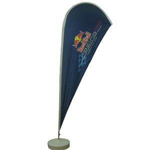 Banderart - Windbanner� confeccionado no tecido Duralon� 100% poli�ster, com haste girat�ria desmont�vel