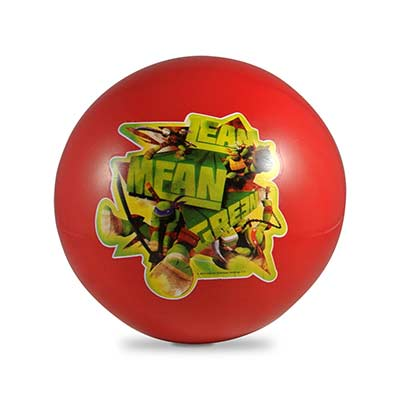 Bola plástica em vinil, tamanho aproximado: 20 cm