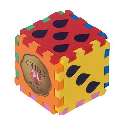 still-promotion - Cubo em EVA, composto por 6 peças que se separam, as cores podem ser escolhidas pelo cliente