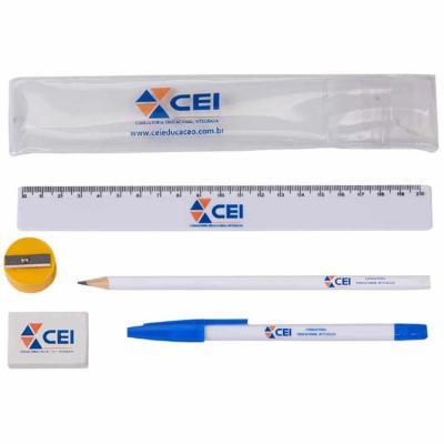 Kit Escolar montado por itens selecionados pelo cliente, tamanho do kit fechado: 22cm x 5cm - Still Promotion
