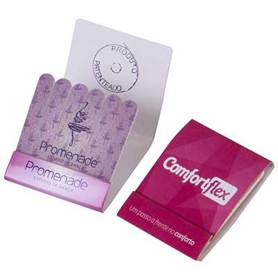 Still Promotion - Lixas descartáveis em embalagem com 6 unidades, Tamanho da Lixa: 4,5 x 1,0 cm, Tamanho da embalagem: 6,0 x 5,5 cm