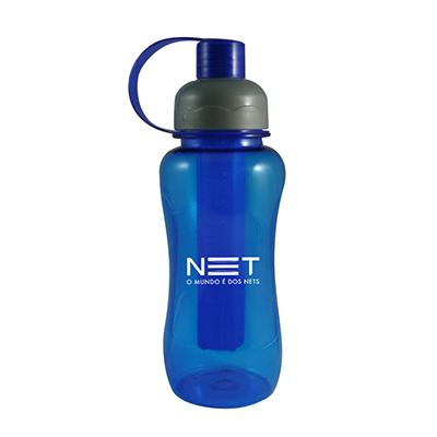 - Squeeze de plástico 400 ml, contendo parte interna removível para resfriamento, Tamanho aproximado 21,0 cm, Diâmetro 7,0 cm