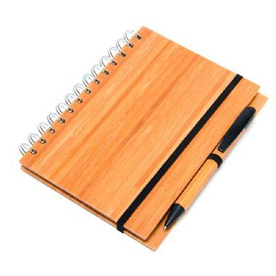Ashtar Brindes - Bloco de anotações bambu