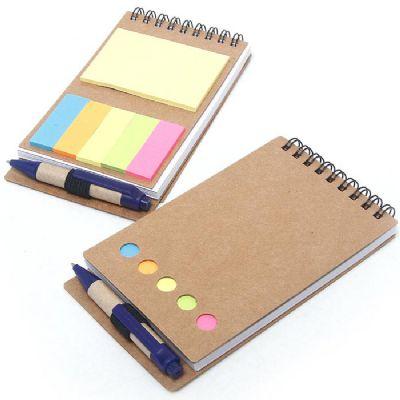 Ashtar Brindes - Bloco de anotações reciclado com caneta