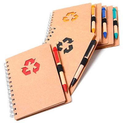 Ashtar Brindes - Caderno reciclável com caneta