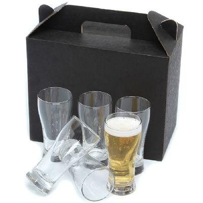 Ashtar Brindes - Kit com 6 copos de vidro