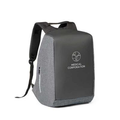 lamarca-brindes - Mochila para notebook. 900D de alta densidade e tarpaulin. Sistema anti-roubo: compartimento principal com zíper oculto e parte posterior com 2 bolsos...