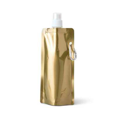 Lamarca Brindes - Squeeze dobrável. PE. Capacidade até 460 ml. Food grade. 110 x 218 x 64 mm, 01 gravação.