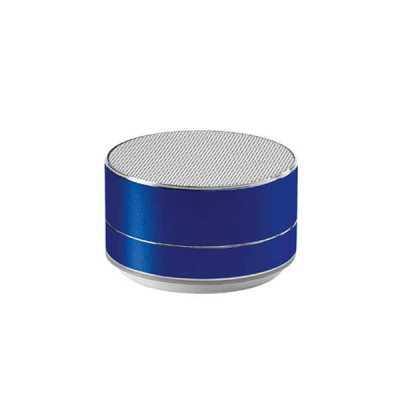 lamarca-brindes - Caixa de som com microfone. Alumínio. Com transmissão por bluetooth e leitor de cartões TF. Com 3W/4Ω. Autonomia até 5 h. Função para atender cha...