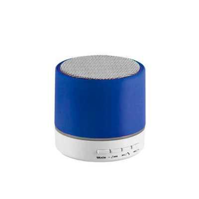 Caixa de som com microfone. ABS. Acabamento em borracha. Com transmissão por bluetooth e leitor de cartões TF. Com 3W/4Ω. Autonomia até 2 h. Funç... - Lamarca Brindes