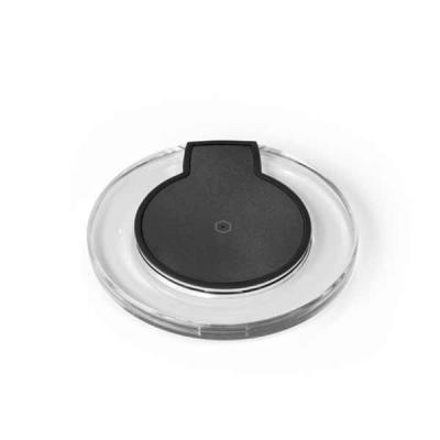lamarca-brindes - Carregador Wireless. ABS. Carregamento do dispositivo por indução. Com entrada 5V/2A e saída 5V/1A. Incluso cabo USB/micro USB para carregar. Compatív...