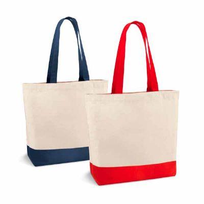 - Sacola. 100% algodão canvas: 280 g/m². Com bolso interior e alças de 65 cm. 460 x 400 x 150 mm