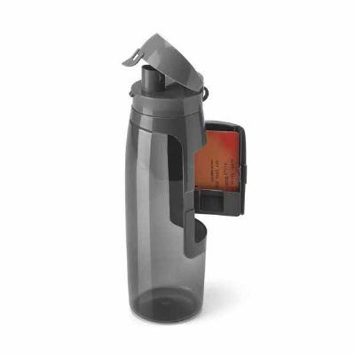 Lamarca Brindes - Squeeze. Tritan™. Com compartimento para cartões, chaves e dinheiro. Capacidade: 800 ml. ø80 x 260 mm