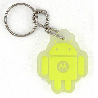 Chaveiro emborrachado placa, android, gravação em relevo.