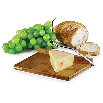 Lamarca Brindes - Cortador de queijo, base em bambu