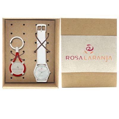 Lamarca Brindes - Kit relógio de pulso com chaveiro
