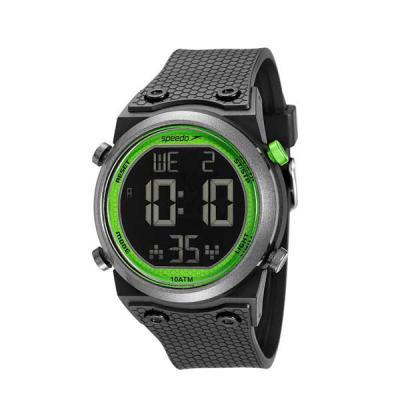lamarca-brindes - Relógio de pulso Speedo, digital, pulseira de plastica, resistente a água, certificado de garantia e embalagem individual.