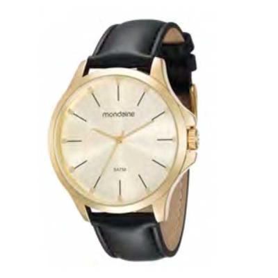 Relógio de pulso, marca Mondaine original, caixa em aço, pulseira de couro, mostrador prateado, e...