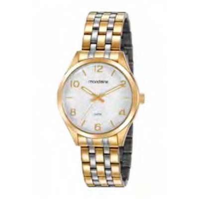 Relógio de pulso, marca Mondaine original, caixa em aço, pulseira de aço, mostrador prateado, emb...