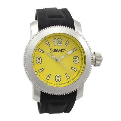 lamarca-brindes - Relógio de pulso com mostrador amarelo