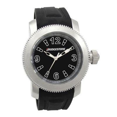 Lamarca Brindes - Relógio de pulso com mostrador preto, pulseira de borracha, 01 cor de gravação. Acompanha certificado de garantia e embalagem individual.