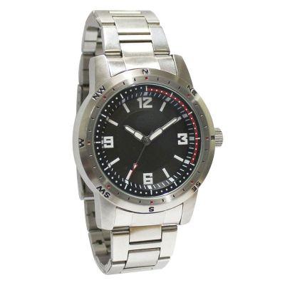 Relógio de pulso com mostrador preto