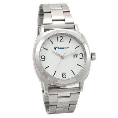 Relógio de pulso com mostrador branco
