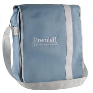 Opção Promocional - Com bolso interno e traseiro na medida 36 cm larg. x 40 cm alt. x 10 cm fole, com gravação em silk ou bordado.
