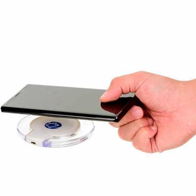 Carregador wireless. ABS. Carregamento do dispositivo por indução. Com entrada 5V/2A e potência d...