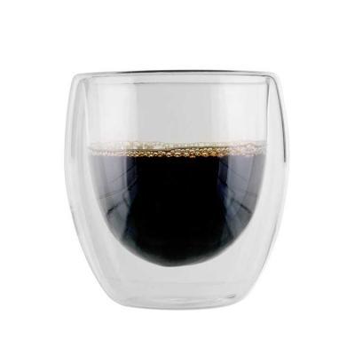 Copo de parede dupla de vidro, o vácuo mantém a temperatura da bebida quente ou fria por mais tem...