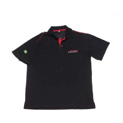 Camisa Polo com friso, confeccionada em piquet pa, bordado no peito e na manga, detalhe em peitilho colorido e friso no ombro - Opção Promocional