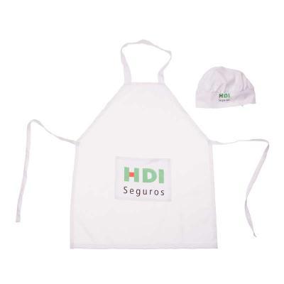 Opção Promocional - Avental e Chapéu de Cozinheiro