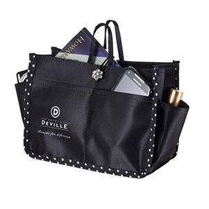 opcao-promocional - Com bolsos externos e nas laterais, divisões internas e chaveiro mosquetão para chave, personalizado em sillk.