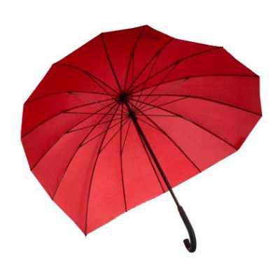 Guarda-chuva em formato de coração