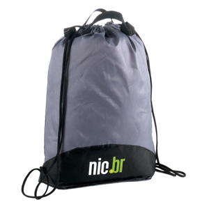 opcao-promocional - Mochila-Saco confeccionada em nylon 210 resinado.