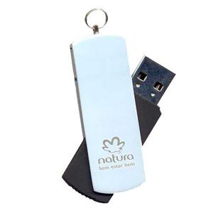 opcao-promocional - Pen-drive giratório, com gravação a laser.