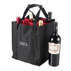 Opção Promocional - Sacola para vinho, confeccionado em nylon 600, com divisórias para 09 garrafas e gravação em silk ou bordado. Adquira já um brinde de excelente qualid...