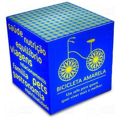 bilateral-promocionais - Cubo Rocco Bicicleta Amarela