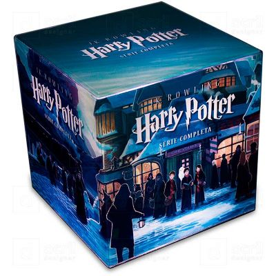 Cubo Rocco Luz Harry Potter Serie Completa - Bilateral Promocionais