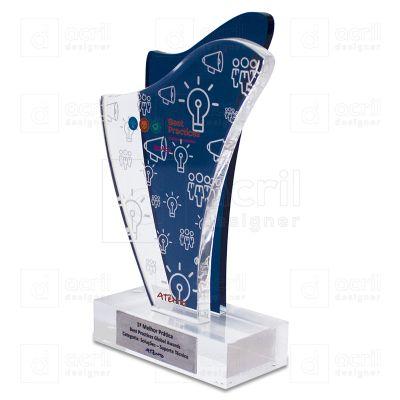 Troféu de acrílico personalizado. - Bilateral Promocionais
