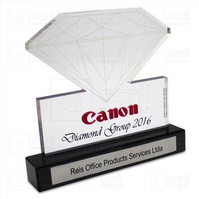bilateral-promocionais - Troféu personalizado de acrílico.