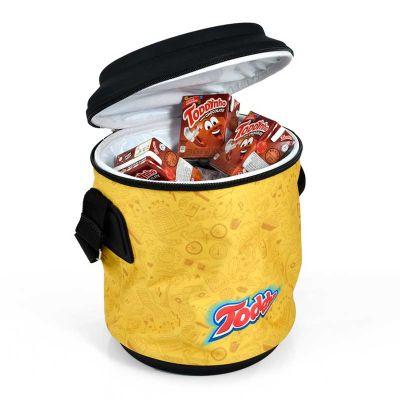 rampazzo-brindes-especiais - Cooler pequeno e espaçoso que comporta 12 latinhas mais gelo
