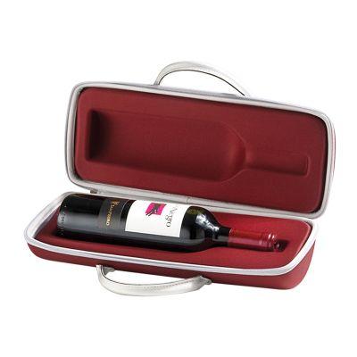 Rampazzo Brindes Especiais - Maleta para vinho, champagne ou bebidas similares confeccionada em E.V.A. termomoldado com acabamento em helanca, gravação de logomarca em alto relevo...