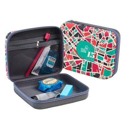 rampazzo-brindes-especiais - Nécessaire termo moldado em E.V.A. com revestimento, zíper, bolso em tela, espelho e gravação personalizada.