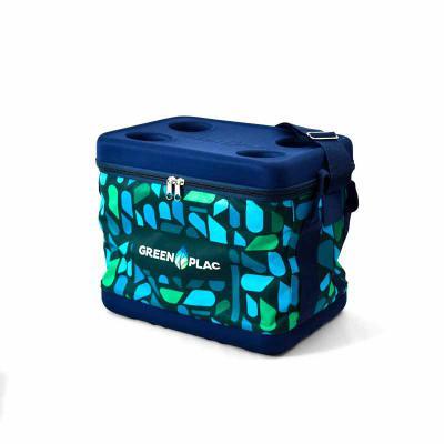 rampazzo-brindes-especiais - Cooler em formato quadrado que comporta 24 latinhas e mais espaço para gelo, conservando as bebidas bem geladas graças ao seu interior de propriedade...