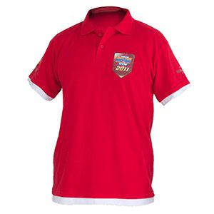 camisetas-promocionais - Camisa polo com malha pique estampa em silk / transfer e bordado.