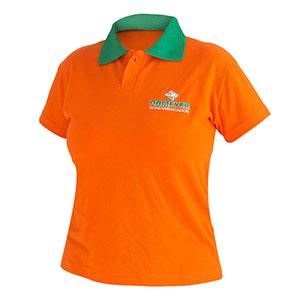 Camisetas Promocionais - Camisa polo com malha piquet e babylook bordado.