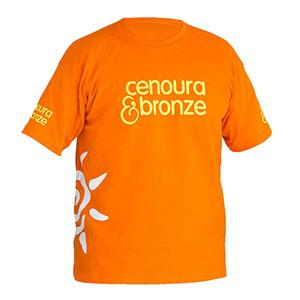 camisetas-promocionais - Camiseta gola careca, malha penteada / cardada e estampa em vinil.