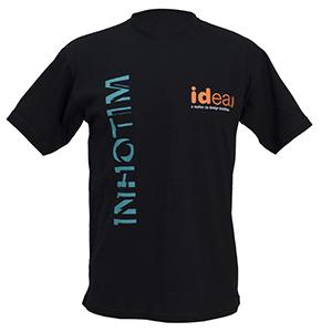 camisetas-promocionais - Camiseta gola careca em malha cardada / penteada e estampa em silk.