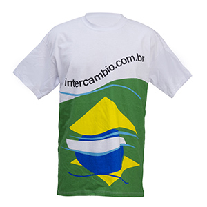 camisetas-promocionais - Camiseta gola careca com malha polisoft / dryfit e estamparia em sublimação.
